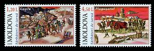 Moldova 2009 Christmas Rituals 2 MNH stamps