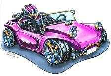 PURPLE VW BEACH BUGGY CROSS STITCH CHART BN! FREE UK POST