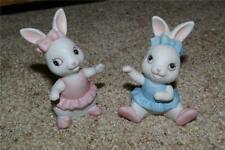 Homco 2 Baby Girl or Ballerina Bunnies Home Interiors