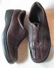 Naturalizer Ladies Brown Leather winter Zip front shoes UK 6 EU 39 narrow