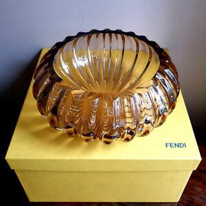 Fendi Murano Glass Large Bowl / Centrepiece - Rare Genuine Fendi, Original Box