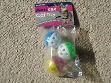 BNIP Ancol bolas de plástico con campana Juguete Gato Paquete De 3