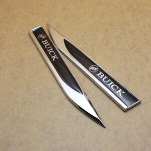 A Pair BUICK Knife Side Emblem Car Body Fender Badge for Regal GS Enclave Verano