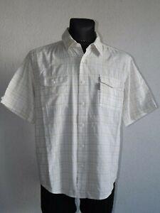Columbia mens cotton short sleeve check shirt size L