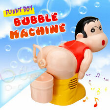 Kids Electric Funny Automatic Fart Bubble Blower-Bubble Maker Toy Stick Machine