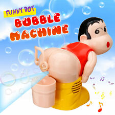 Bubble Machine Cartoon Automatic Bubble Maker Blower Music Bath Toys For
