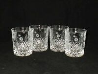 Shannon by Godinger STEPHANIE Crystal Double Old Fashioned Glasses Tumblers (4)