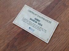 Certificat D'Authenticité Editions Atlas – GMC Dukw 353 TBE.