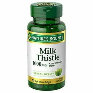 Nature's Bounty Milk Thistle Pills and Herbal Health Supplement, Supports...