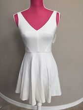 New ABS White Peplum Dress Size XS Short Cocktail Special Occasion