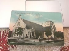 Postcard JACKSONVILLE Florida/FL  St John's Episcopal Church view Posted 1920
