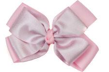 I capelli con fiocco doppio strato con Fiocco per Capelli Clip A Becco Clip per capelli stile Rosa Glitter 124