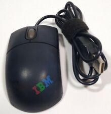 Mini USB wired optical mouse IBM Think pad model mo32bo tri-color logo