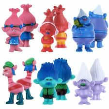 Hot 6PCS/SET Moive Trolls Poppy Branch Cute Action Figure Kid Toy Gift 9CM Doll