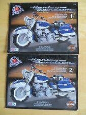 Mega Bloks ProBuilder Road King Harley Davidson Instruction Books 1 & 2 #9770