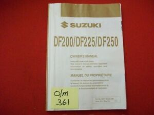 2012 SUZUKI DF200/DF225/DF250 FACTORY ISSUED OWNER'S MANUAL-OEM-HTF COLLECTIBLE