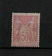 "FRANCE STAMP TIMBRE YVERT N° 98 "" TYPE SAGE 50c ROSE TYPE II "" NEUF xx TB  V206"