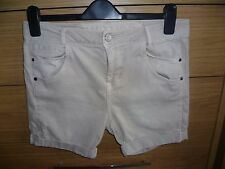Femme Beige Jeans Stretch Short Taille 14