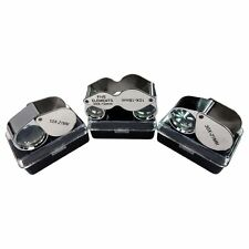 3pc Singlet Jewelry Eye Loupe Set 10x 20x 30x Magnifying Glass Lens Magnifier
