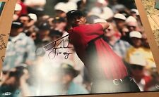 Tiger Woods Autographed 16x20 Inscribed 1st Major Upper Deck UDA 19/25
