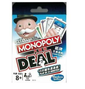 Monopoly Deal Card Game Hong Kong Edition (Bilingual)