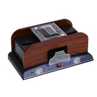 Wooden Card Shuffler 1-2 Decks Shuffling Machine Playing Cards Poker Shuffler_ti
