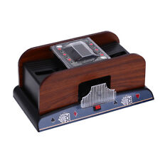 Wooden Card Shuffler 1-2 Decks Shuffling Machines Playing Cards Poker Shufflers|