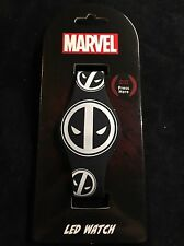 Marvel X-Force White Deadpool Secret light LED Rubber Watch Adjustible Brand New