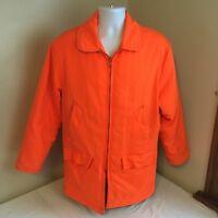 Vtg Timber King Hunter Safety Orange Hunting Jacket Medium USA Made Free Ship!