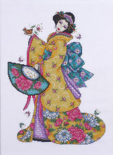 Cross Stitch Kit ~ Design Works Golden Geisha Japanese Lady Kimono #DW2710