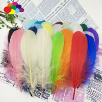 100 Pcs 22 colors Goose feathers 15-20Cm/6-8 Inch Diy Stage Props Decor Headress