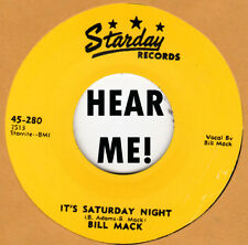 ROCKABILLY REPRO: BILL MACK - It's Saturday Night/That's Why I Cary STARDAY