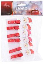 Confezione 6 mollette natalizie Babbo Natale Christmas Gifts