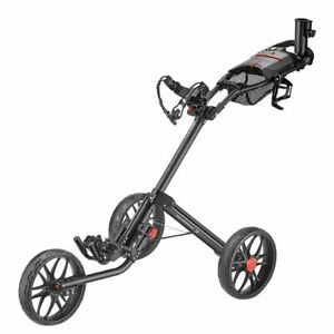 CaddyTek 15.3 V2 Deluxe Quad-Fold Push Golf Cart Version 2 - SILVER