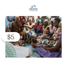 $5 Charitable Donation: HEIFER INTERNATIONAL Where Needed Most