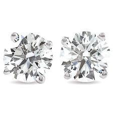 1.50 Ct Round Corte Diamante Natural Tachas Em 14K Branco Ou Amarelo Ouro