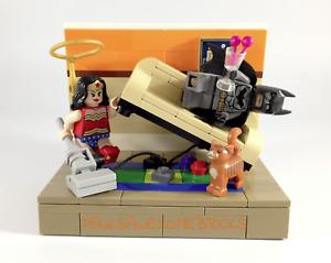 "Custom Lego Batman ""Holy Housework Sucks"" ONLY 100% GENUINE LEGO PARTS USED"