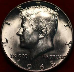 Uncirculated 1968-D Denver Mint Silver Kennedy Half