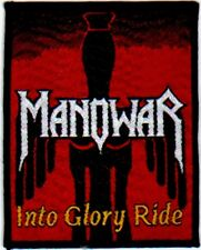 MANOWAR 'INTO GLORY RIDE' vintage woven sew on patch