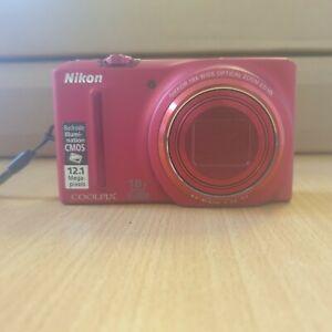 NIKON - COOLPIX - S9100 - 12.1 MP - DIGITAL CAMERA - RED (X23)
