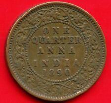 1890 India Quarter Anna Coin