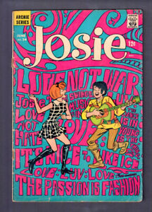 JOSIE # 34 ARCHIE 1968 DAN DeCARLO ANTI WAR COVER  & PSYCHEDELIC DRUG USE PANELS