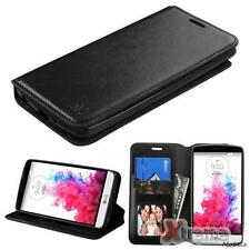 XM-Black PU Leather ID/Wallet Case Pouch For LG G3 STYLUS/D690