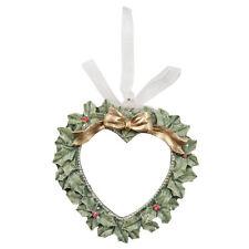 Décorations pour arbre de Noël cœur pendant couronne déco shabby vintage 9C