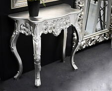 Wall Bracket Silver Antique Sideboard Baroque Console Big Side Table Wandkommode