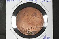 """1876 """"H"""" Penny Great Britain - KM# 755"""
