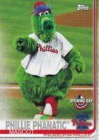 Philadelphia Phillies - 2019 Topps Opening Day Baseball Sammelkarte, (Mascot)