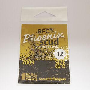BFC Phoenix 7009 Fly Tying Scud Fly Hooks / 20pc / Matt Bronze