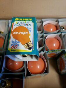 Bulbrite 60 Watt Incandescent A19 Ceramic Orange Standard Base