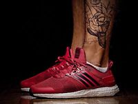 MEN'S ADIDAS ULTRA BOOST ST RUNNING SHOES UK 12 EUR 47 1/3 BB3930 RED RARE